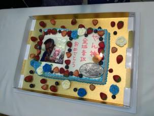 東京サポートスタッフからのケーキ。 ありがとう