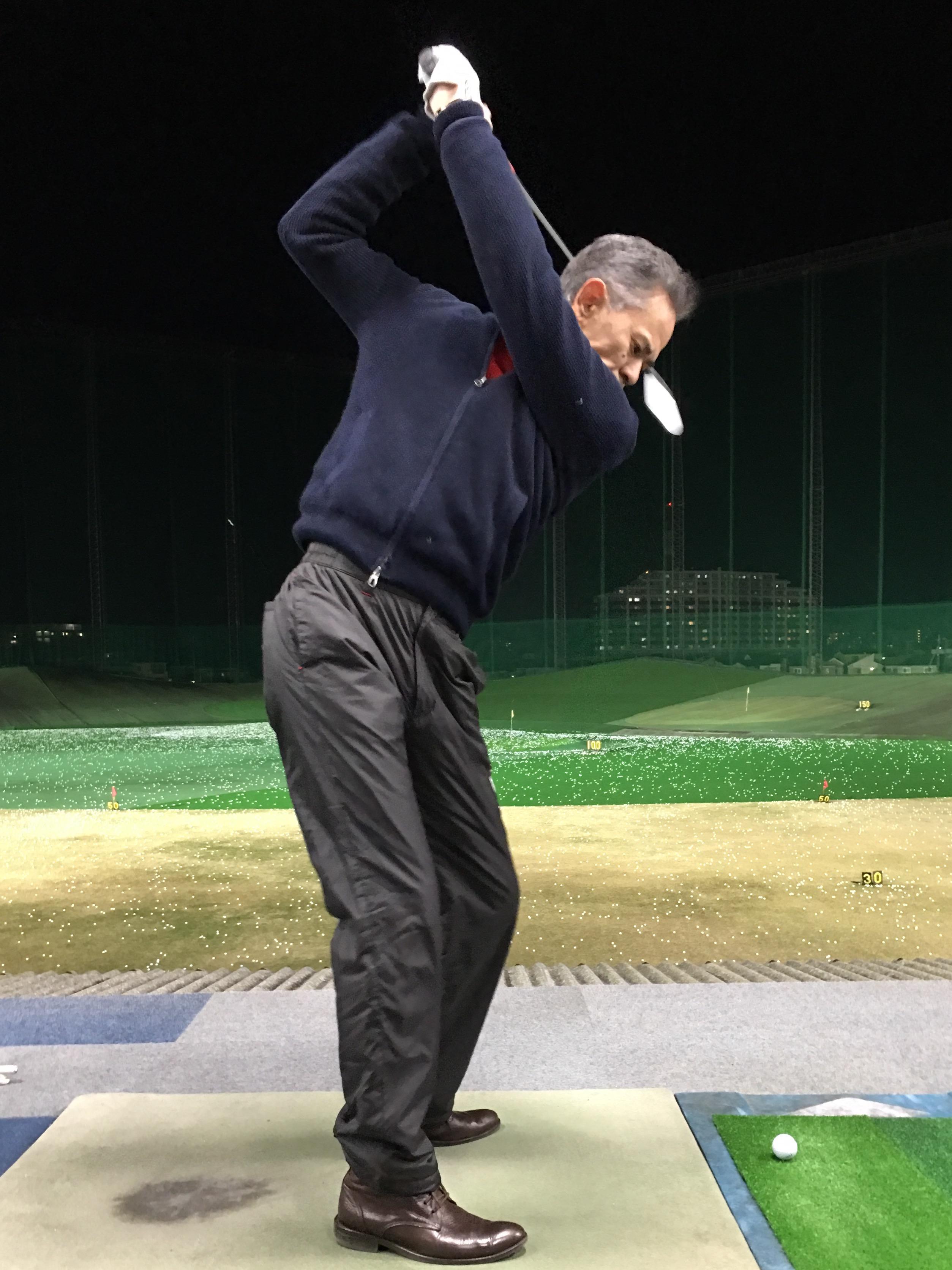 ゴルフレッスン⛳️ 身体とゴルフクラブの関係が一定です